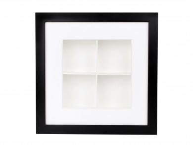 SPOX - schwarz/weiß - 4 Fächer