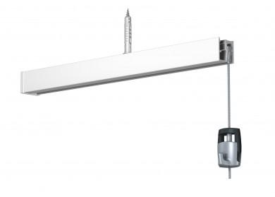 Newly Galerieschiene R30 - weiß, 200 cm