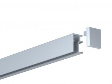 Newly Galerieschiene R10 - silber, 200 cm, Einzelpack