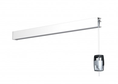 Newly Galerieschiene R10 - weiß, 200 cm, Einzelpack