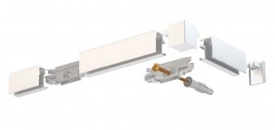 Newly Komplttpaket Galerieschiene R10 - weiß, 200cm
