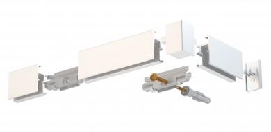 Newly Komplettpaket Galerieschiene R20 - weiß, 200cm