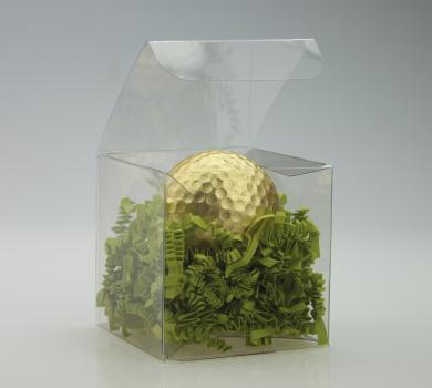Golfball vergoldet, inkl. Geschenkverpackung